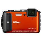 Camera foto digitala NIKON Coolpix AW130, 16 Mp, 5x, 3 inch, portocaliu
