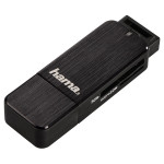 Cititor de carduri HAMA 123901, USB 3.0, SD/microSD, negru