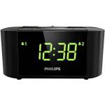 Radio desteptator PHILIPS AJ3500, Gentle Wake, Timer Sleep, FM, negru