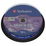 DVD+R VERBATIM 43666, 8x, 8.5GB, 10buc - Spindle