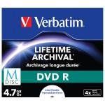 DVD R M-Disc VERBATIM 43821, 4x, 4.7GB, printabil, 1buc