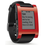 Smartwatch PEBBLE, Red