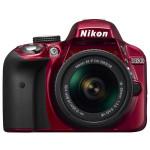 Camera foto DSLR NIKON D3300 + obiectiv AF-P 18-55mm VR , 24.2 Mp, 3 inch, rosu