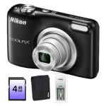Camera foto digitala NIKON Coolpix A10, 16.1Mp, 5x, 2.7 inch,  Black+ Husa card incarcat