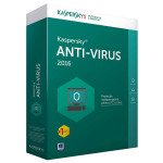 KASPERSKY Anti-Virus 2016, 1 an, 4 PC, Renewal, Box