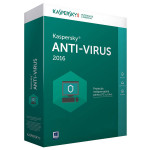 KASPERSKY Anti-Virus 2016, 1 an, 2 PC, Renewal, Box
