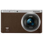 Camera foto mirrorless SAMSUNG NX Mini, 20.5 Mp, 3 inch + obiectiv 9-27mm, Brown