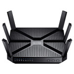 Router Wireless TP-LINK Archer C3200, Tri-Band 600 + 1300 + 1300 Mbps, USB 3.0, USB 2.0, negru