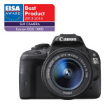 Camera foto digitala CANON EOS100D + obiectiv EF 18-55 IS STM, 18 Mp, 3 inch, negru