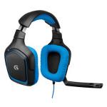 Casti PC gaming LOGITECH G430, negru-albastru