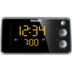 Radio desteptator PHILIPS AJ3551, Gentle Wake, Timer Sleep, FM, negru