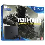 Consola Sony Playstation 4 SLIM, 1TB, negru + Joc Call of Duty: Infinite Warfare