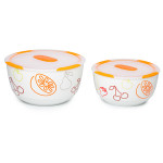 Set 2 boluri ceramice OURSSON BS4781RC/OR, 1.7 / 3.0 l, portocaliu