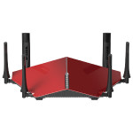 Router Wireless D-LINK Gigabit AC3200 DIR-890L, Tri-Band 600 + 1300 + 1300Mbps, USB 3.0, USB 2.0, rosu