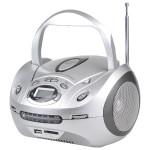 Radio CD portabil TELETECH DV-350SIL, USB, argintiu