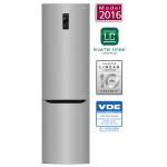 Combina frigorifica No Frost LG GBB60PZDZS, 343l, A++, argintiu