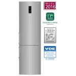 Combina frigorifica No Frost LG GBB60PZFZB, 343l, A++, argintiu