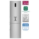 Combina frigorifica No Frost LG GBF60NSFZB, 339l, A++, argintiu