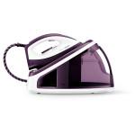 Statie de calcat PHILIPS FastCare GC7705/30, talpa SteamGlide ceramic, 2.2l, 120g/min, 2400W, alb-violet