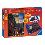Puzzle RAVENSBURGER - Paris 1000 piese si suport pentru rulat