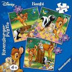 Puzzle RAVENSBURGER - Bambi 25/36/49 piese