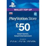 PlayStation Network Card UK 50 lire PS3 / PS4 / PS VITA