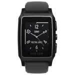 Smartwatch VECTOR Meridian, Flat Black with Black Silicone Strap