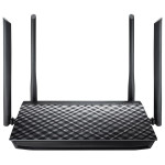 Router Wireless ASUS Gigabit RT-AC1200G Plus, Dual-Band 300 + 867Mbps, WAN, LAN, USB 2.0, negru