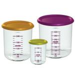 BEABA - Set 3 recipiente ermetice pentru hrana (150ml, 300ml, 500ml)