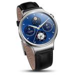 Smartwatch HUAWEI W1 Steel, Black Leather Strap
