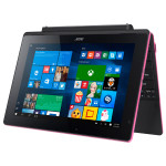 "Laptop 2 in 1 ACER Aspire Switch 10 E SW3-016, Intel® Atom™ x5-Z8300 pana la 1.84GHz, 10.1"" Touch, 2GB, eMMC 64GB, Intel® HD Graphics, Windows 10, Pink"