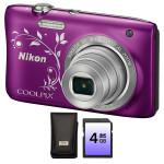 Camera foto digitala NIKON Coolpix S2900, 20.1 Mp, 5x, 3.2 inch, mov + geanta + card SD 4GB