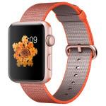 APPLE Watch Series 2 Sport 42mm Rose Gold Aluminum Case, Orange Woven Nylon Band