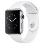 APPLE Watch Series 2 42mm Stainless Steel Case, White Sport Band