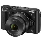 Camera foto mirrorless NIKON 1 V3, 18.4 Mp, 3 inch, negru + obiectiv 10-30mm