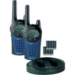 Statie emisie - receptie COBRA MT975, FM, 8 canale, 12Km, negru-albastru
