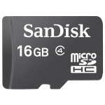 Card de memorie microSD HC 16GB SANDISK clasa 4