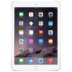 """Apple iPad Air 2, 32GB, Wi-Fi + 4G, Ecran Retina 9.7"""", A8X, Gold"""