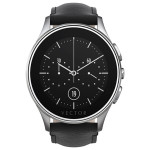 Smartwatch VECTOR Luna, Steel with Black Leather Strap