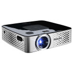 Videoproiector PHILIPS PicoPix PPX3417W, 854x480 pixeli, negru-gri