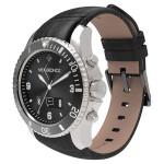Smartwatch MYKRONOZ ZeClock Premium, Silver, curea neagra