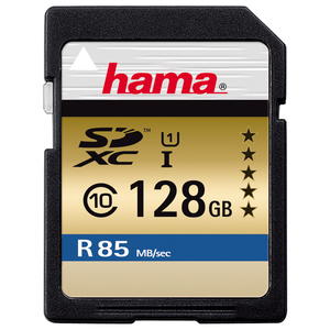 Card de memorie SD XC 128 GB HAMA 114950, R:85 MB/S
