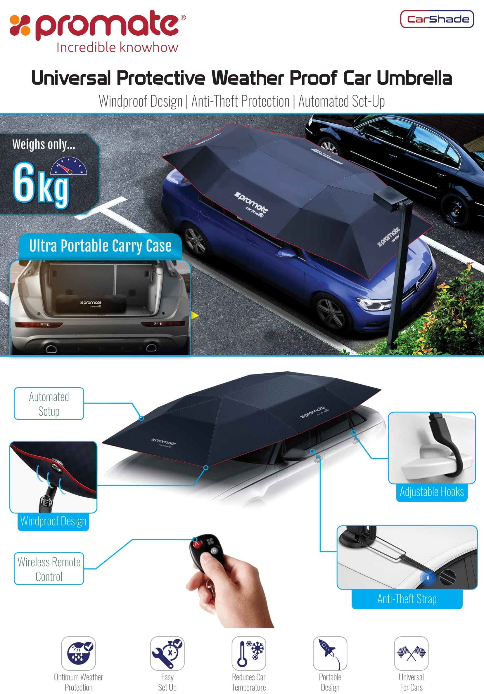 Promate CarShade