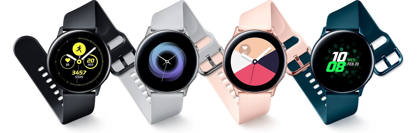 Smartwatch Samsung Galaxy Watch Active Android Ios Silicon Rose Gold