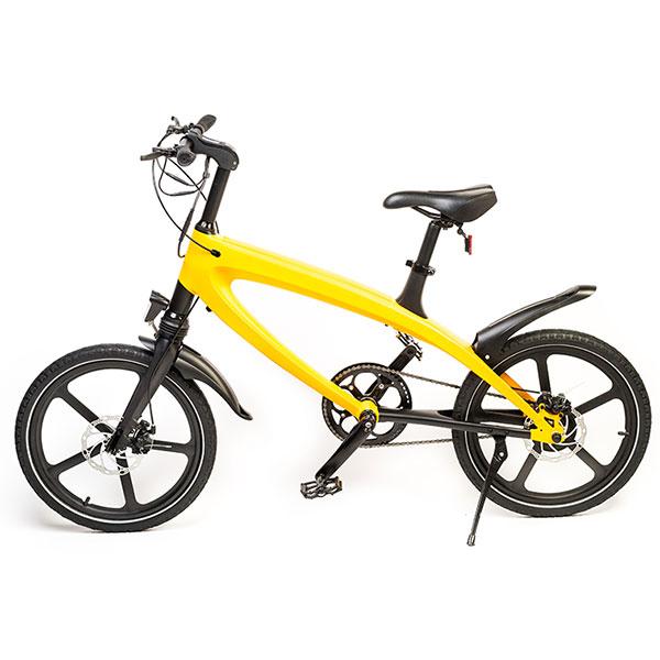 Bicicleta Electrica Freewheel E-bike Revo, 20 Inch, Galben