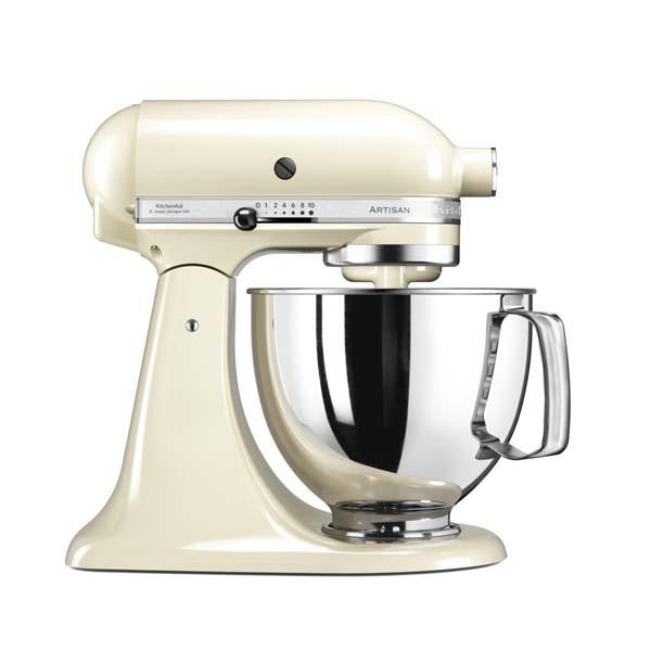 mixer cu bol kitchenaid artisan 5ksm125eac 10 trepte de viteza 300w almond cream. Black Bedroom Furniture Sets. Home Design Ideas
