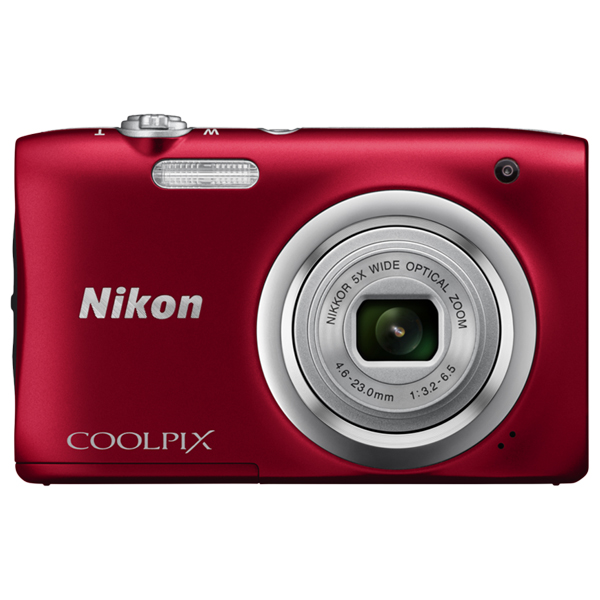 Camera Foto Digitala Nikon Coolpix A100, 20.1mp, 5x, 2.7 Inch,  Red
