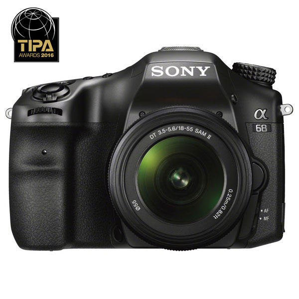 Camera Foto Digitala Dslr Sony Alpha Slt-a68k, A-mount, Cu Obiectiv 18 - 55 Mm Ii, 24.2 Mp, 2.7 Inch, Negru