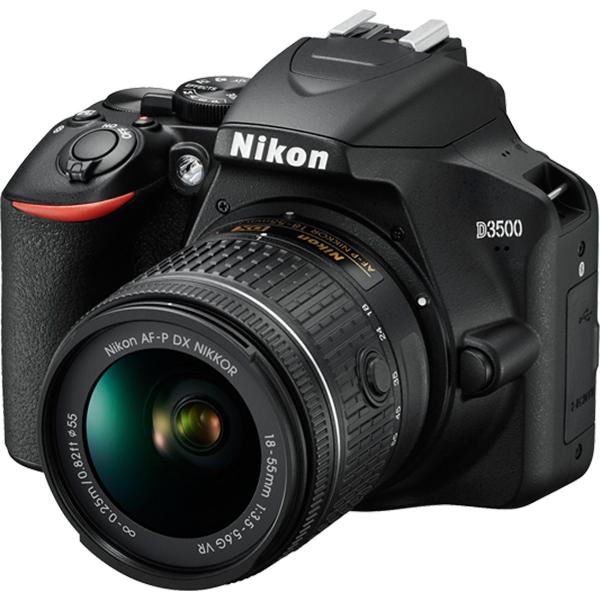 Camera Foto Dslr Nikon D3500+ Obiectiv 18-155mm Vr, 24.2 Mp, 3 Inch, Negru