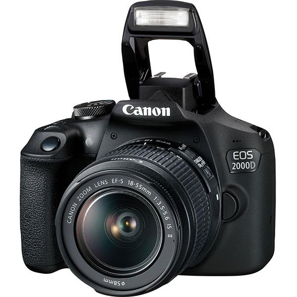 Camera Foto Digitala Canon Eos 2000d+ Obiectiv 18-55 Is Se, Wi-fi, 24.1mp, Negru